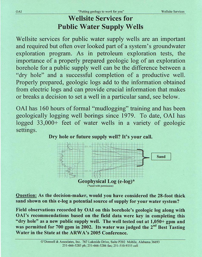 Wellsite Services Flyer